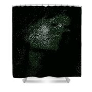 She Is Made Of Stardust Shower Curtain
