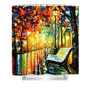 She Left... - Palette Knife Oil Painting On Canvas By Leonid Afremov Shower Curtain