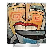 She Likes Her Coffee Shower Curtain by Tim Nyberg