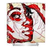 She Pop Art Rose Shower Curtain