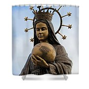 She Watches Over The World Shower Curtain