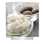 Shea Butter And Nuts In Bowls Shower Curtain