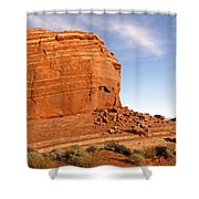 Shear Lined Cliff Shower Curtain