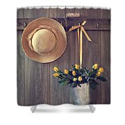 Shed Door Shower Curtain by Amanda Elwell