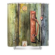 Shed Door Shower Curtain