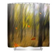 Shed Leaves Shower Curtain