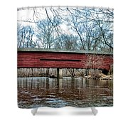 Sheeder - Hall - Covered Bridge Chester County Pa Shower Curtain