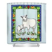 Sheep Artist Sheep Art II Shower Curtain