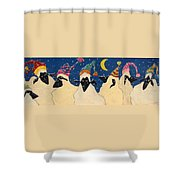 Sheep In Hats Shower Curtain