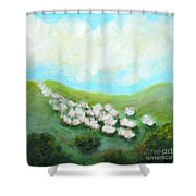 Sheep On The Move Shower Curtain
