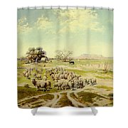 Sheepherding Montana Shower Curtain