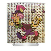 Sheet Of Mad Hatter Blotter Acid Shower Curtain by Science Source