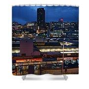 Sheffield Skyline At Night Shower Curtain