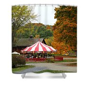 Shelbourne Vermont Antique Carousel Shower Curtain