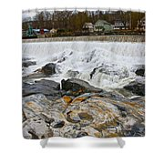 Shelburne's Falls Shower Curtain by Randi Shenkman