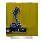 Shelby Gt350 Emblem On Yellow Shower Curtain