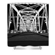 Shelby Street Bridge At Night In Nashville Shower Curtain