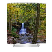 Sheldon Reynolds Falls And Kitchen Creek Shower Curtain
