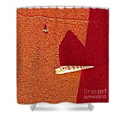 Shell And Sand Reddish Version Shower Curtain