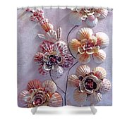 Shell Flowers  No 1  Shower Curtain