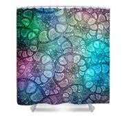 Shell Fossils Shower Curtain