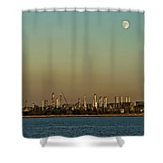 Shell Refinery Shower Curtain