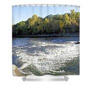 Shell Rock Dam Shower Curtain