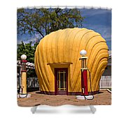 Shell-shaped Shell Station North Carolina Shower Curtain