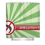 Shellfish Free Banner Shower Curtain