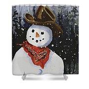 Shelly's Snowman Shower Curtain