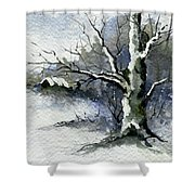 Shelly's Tree Shower Curtain