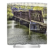 Shelton Derby Railroad Bridge Shower Curtain