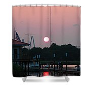 Shem Creek At Twilight Shower Curtain