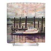 Shem Creek Shower Curtain by Ben Kiger