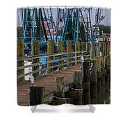 Shem Creek Wharf Shower Curtain