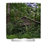 Shenandoah Log Cabin Shower Curtain