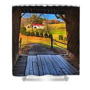 Shenandoah Virginia Covered Bridge Shower Curtain