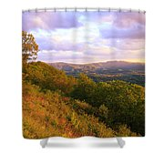Shenandoah's Golden Hour  Shower Curtain