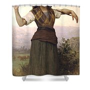 Shepherdess Shower Curtain