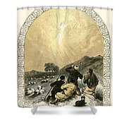 Shepherds And Angel Shower Curtain