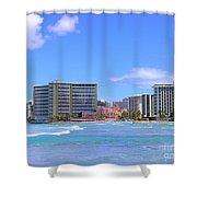Sheraton And Royal Hawaiian View Shower Curtain
