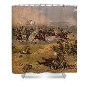 Sheridan's Final Charge At Winchester Shower Curtain by American School