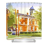 Sheriffs Residence With Courthouse II Shower Curtain