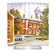 Sheriffs Residence With Courthouse Shower Curtain