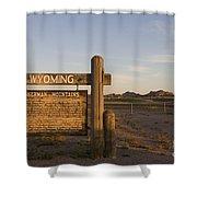 Sherman Mountains Wyoming Shower Curtain
