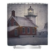 Sherwood Point Light Shower Curtain