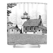 Sherwood Point Lighthouse Shower Curtain