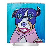She's A Pit Bull That Wears Lipstick Shower Curtain
