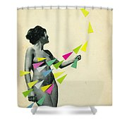 She's A Whirlwind Shower Curtain