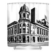 Shibe Park Shower Curtain by Benjamin Yeager